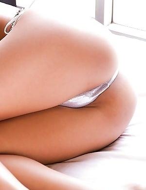 Nana Konishi shows hot box and hot butt in white bikini