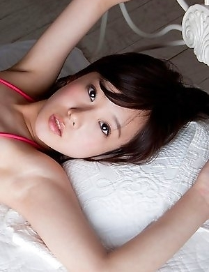Kana Yuuki in pink lingerie and heels is such hot kitten