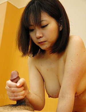 Japanese girl gets her tits creamed