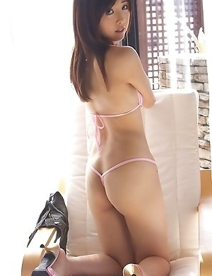Mio Ayame takes shorts taht were rubbing her pussy off