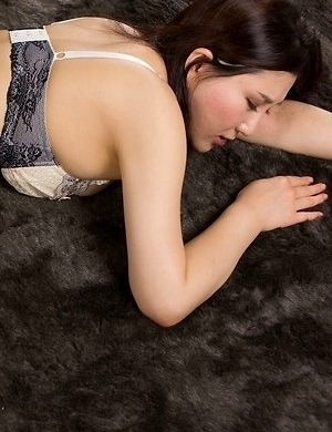 Horny brunette in thigh highs Yuu Kazuki gets her sexy legs fucked hard