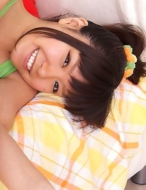 Ayana Tanigaki takes clothes off while playing with balls