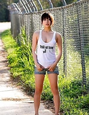Natsume Sano sexy doll shows hot body anywhere she likes